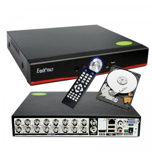 DVR IBRIDO 16 CH CANALI AUDIO VIDEO LAN HD HARD DISK 1 TB CLOUD H.265