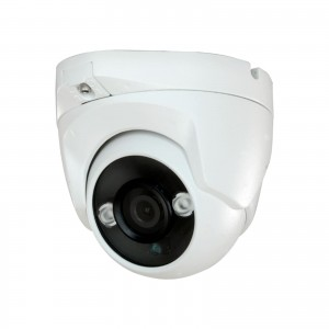 Telecamera Dome 4 Mpx 3.6 mm 4in1 ibrida AHD HDTVI HDCVI CVBS 2 LED Array IR IP66