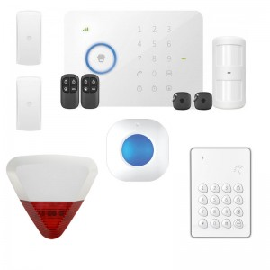 KIT ALLARME WIRELESS GSM SENZA FILI SIRENA INTERNA ESTERNA CASA